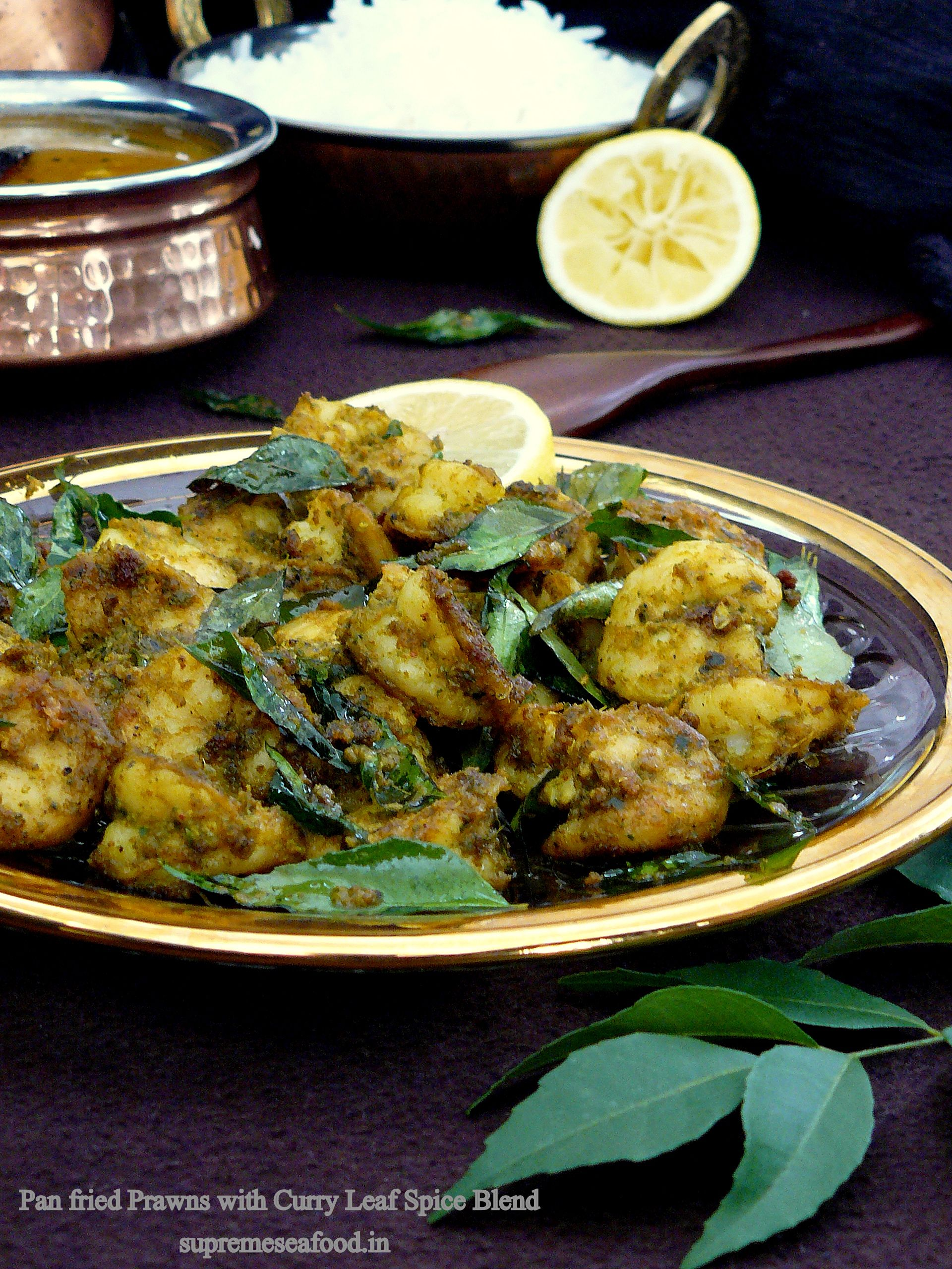 Pan Fried Prawns With Curry Leaf Spice Blend A South Indian Style