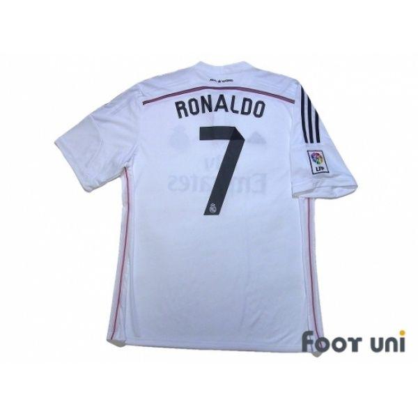 6c27803fe Real Madrid 2014-2015 Home Shirt  7 Ronaldo LFP Patch Badge  realmadrid   realmadrid2014  realmadrid2015  realmadridshirt  realmadridjersey  cr7   ronaldo ...