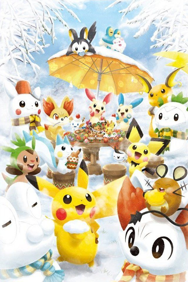 Pokemon Winter Wonderland Christmas pokemon, Pokemon