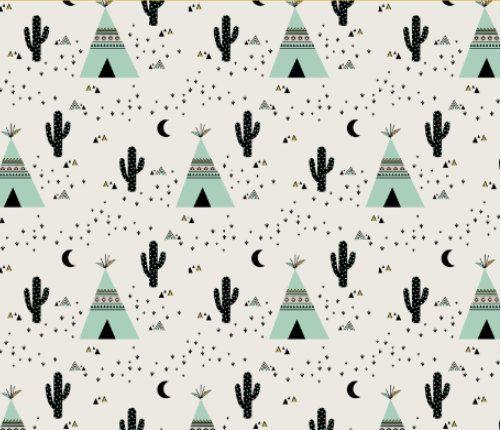 kimsa sud ouest tipi et des cactus cactus tipi menthe tissu imprim sur une vari t de. Black Bedroom Furniture Sets. Home Design Ideas