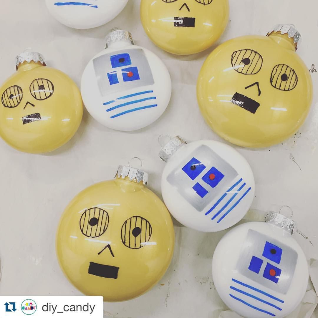What I've been working on. Great for little kids or big kids like me! #Repost @diy_candy with @repostapp. ・・・ A #starwars tree will soon be in action! Celebrating the droids in particular this year! #starwars #r2d2 #c3po #beepboop #michaelsmakers