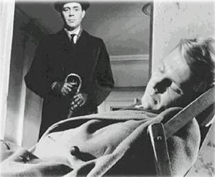 Dirk Bogarde en James Fox in The Servant