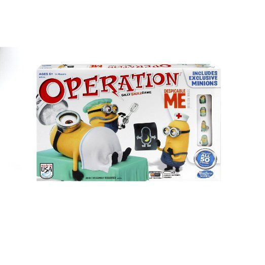 It's the classic skill #game of Operation, now with multitudes of minions! Stuart's having a bad day and it's up to you to fix him. Operate on Stuart to remove the unicorn fluff or fix his nutty noggin and his toxic tongue! toys summer gift  #hasbro