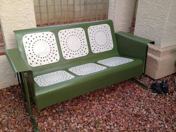 1950s Antique Porch Glider By