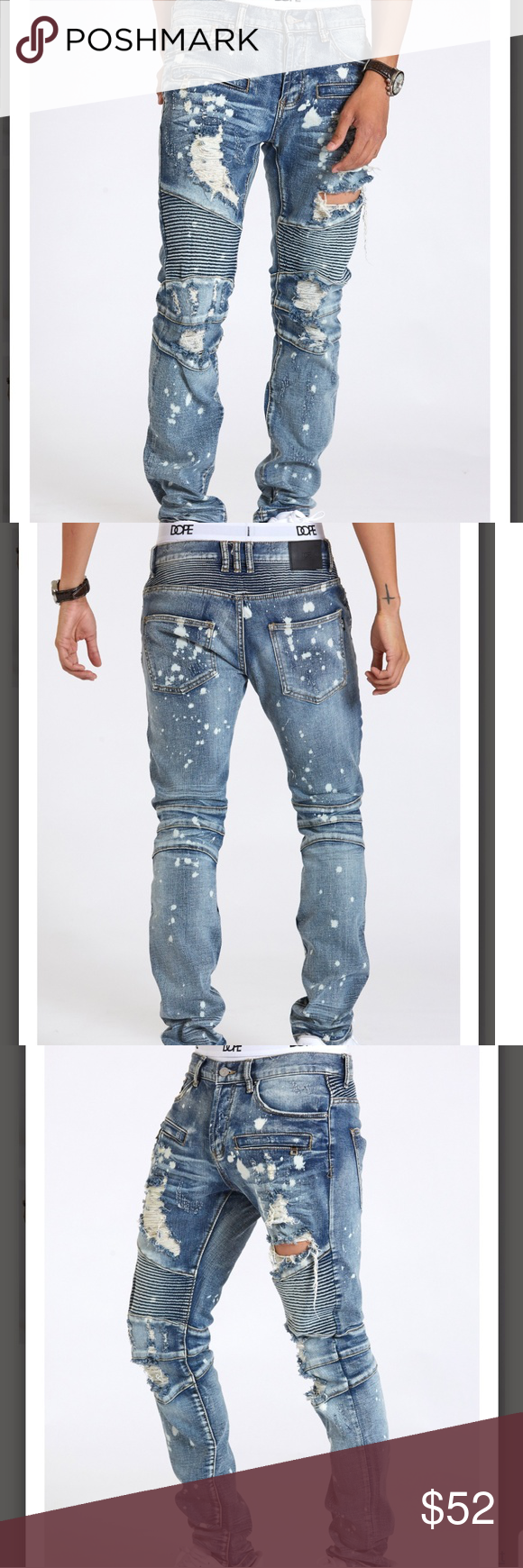 30ea4dbf Spotted while shopping on Poshmark: 🔥 DOPE 🔥Slim Fit Moto Jeans!  #poshmark #fashion #shopping #style #DOPE #Other