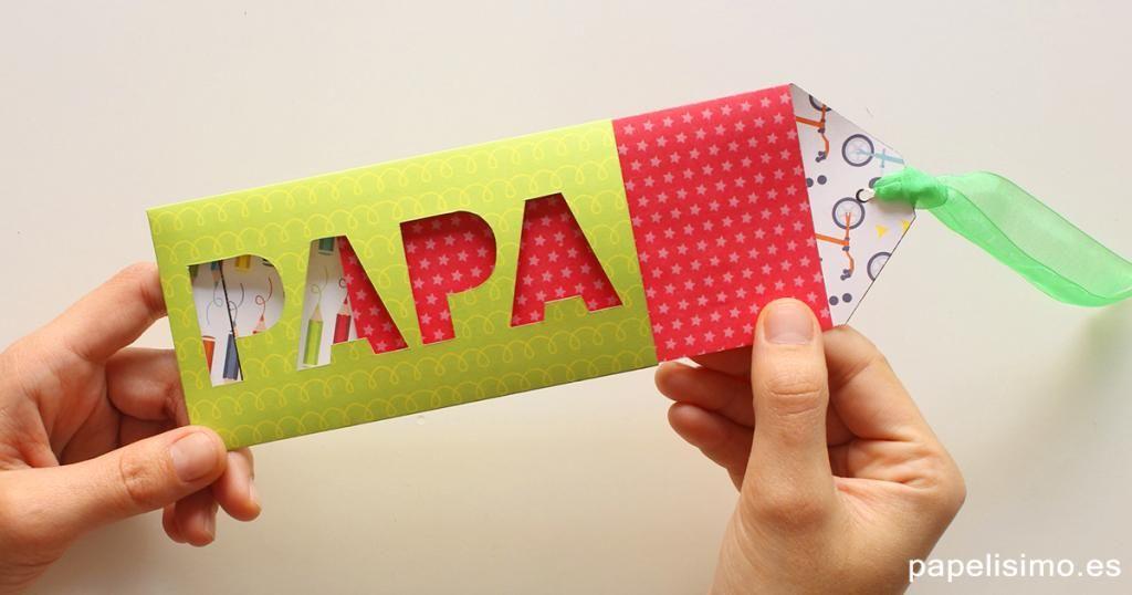 A pocos días del Día del padre, vamos a preparar esta tarjeta de ...