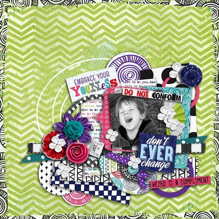 using Capricious Templates by Zoliofrope | Dare 2 Be - Bundle by Shawna Clingerman