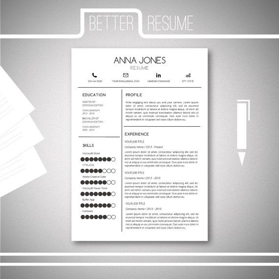 Resume Template And Cover Letter Template For GoogledocsMicrosoft