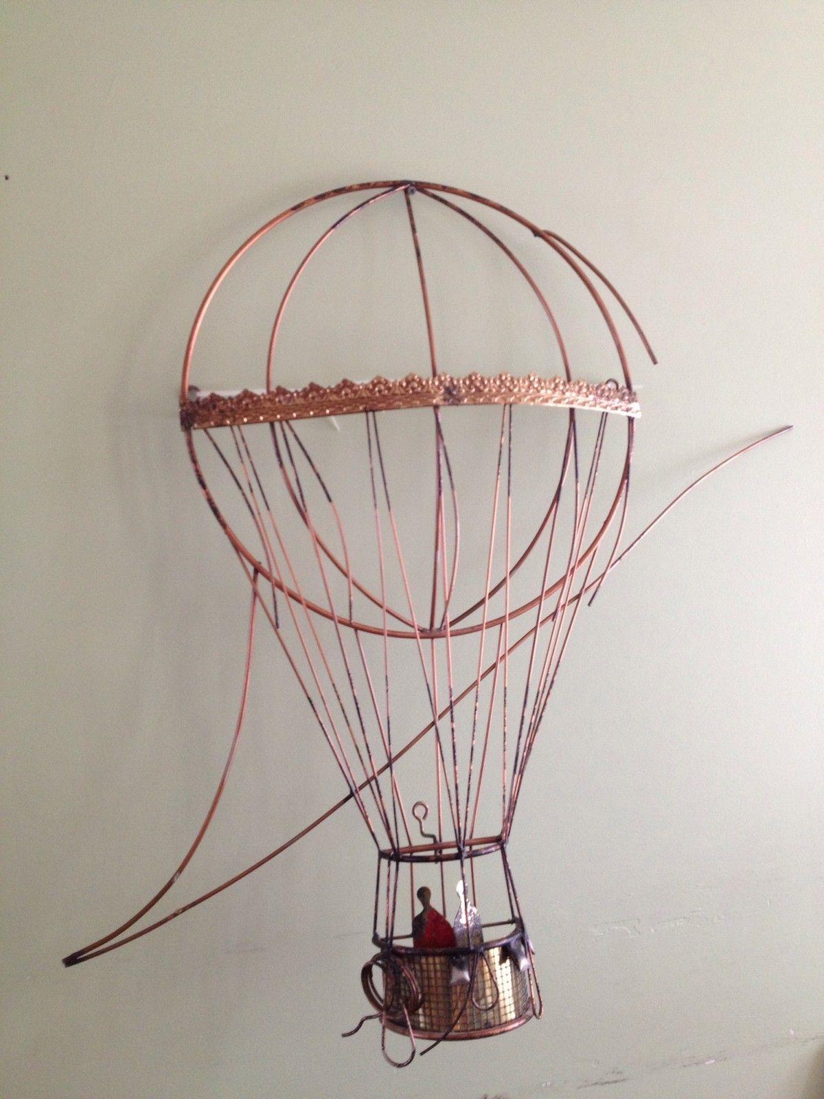 C Curtis Jere Hot Air Balloon Metal Wall Sculpture Art Vtg Large