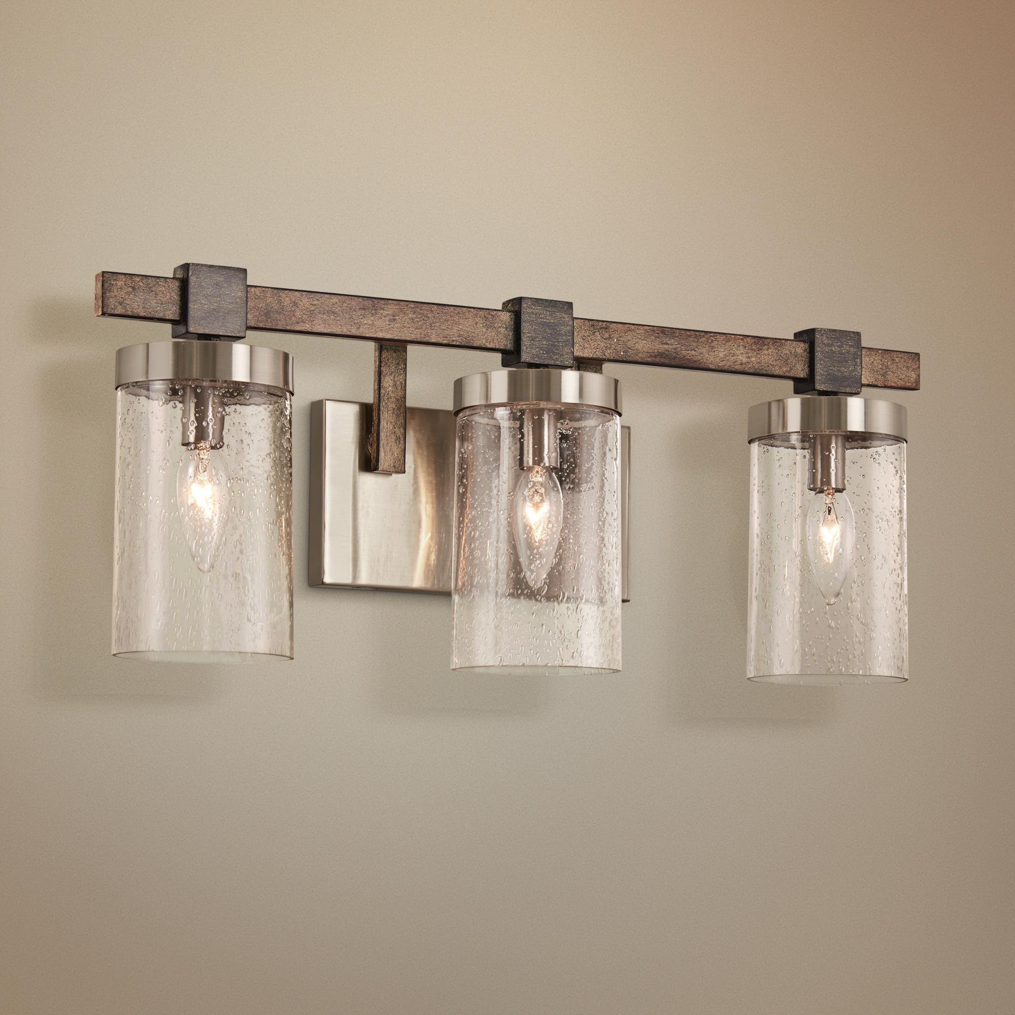Bathroom Lighting Bridlewood 22 1 2 Wide Brushed Nickel 3 Light Bath Light In 2020 Modern Bathroom Decor Bathroom Decor Bathroom Light Fixtures