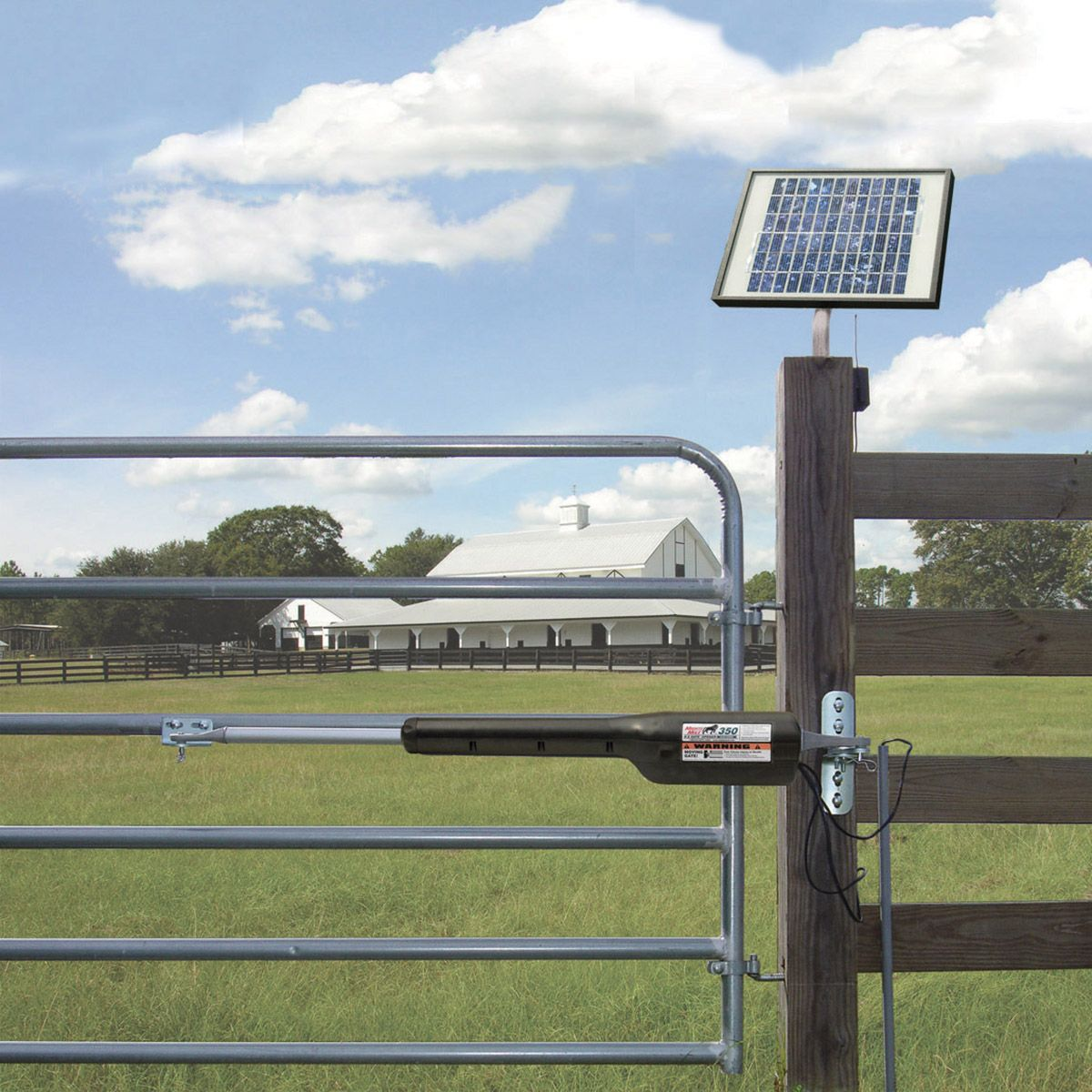 mighty mule fm350 diy automatic gate opener and solar panel broke barn farm pinterest. Black Bedroom Furniture Sets. Home Design Ideas
