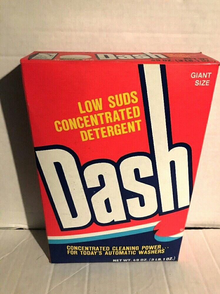 Dash Detergent Box 1978 81 Vintage Packaging Vintage Laundry