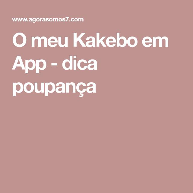 O meu Kakebo em App - dica poupança