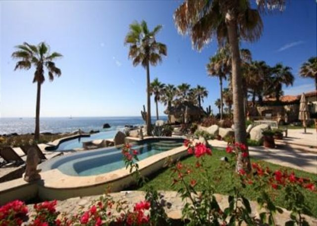 Villa Las Arenas, #Cabo San Lucas. Live luxury on the edge of the Ocean in this very private villa situated on 140 feet of pristine Baja coastline. Enjoy spectacular sunrises over the Sea of Cortéz and sweeping, unobstructed view of sunsets over the Cabo San Lucas landmark, 'El Arco'. Villa Las Arenas is located adjacent to the #EsperanzaResort  Spa, Auberge property. Ocean front villa with direct view of The Arch and access to a private secluded cove. For info click on the photo.