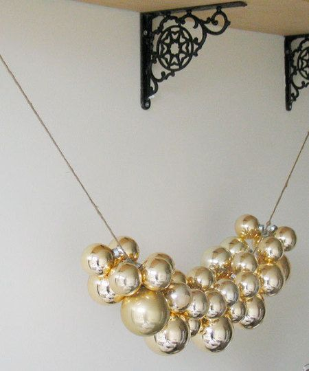 Cheap & Fast Cheer: Glass Ball Ornament Swag | Apartment Therapy