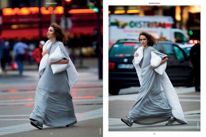"""The Street Issue"" featured in Antidote Magazine S/S 2013 | Photo's: Hans Feurer. Stylist: Yann Weber. Hair: Alessandro Rebecchi. Make-up: Frederik Stambro & Victor Alvarez."