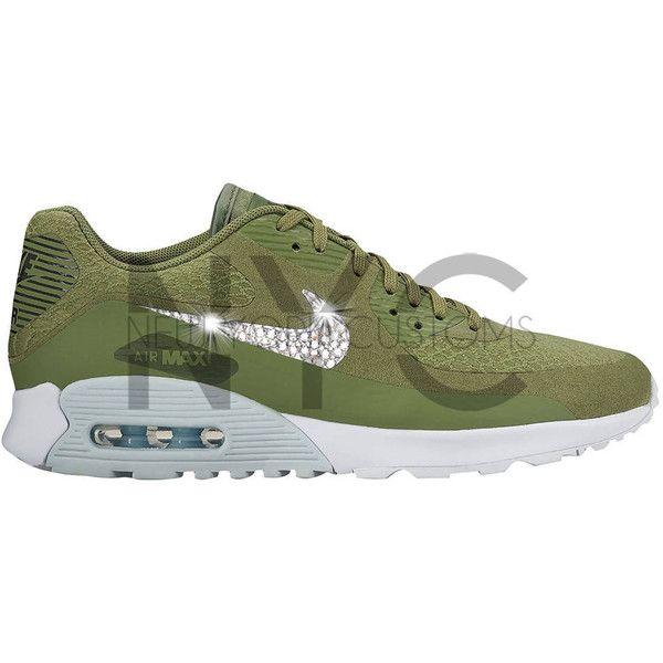 Women Nike Air Max 90 Ultra 2.0 Palm Green Swarovski Crystal... ( 170 72ad686f3598