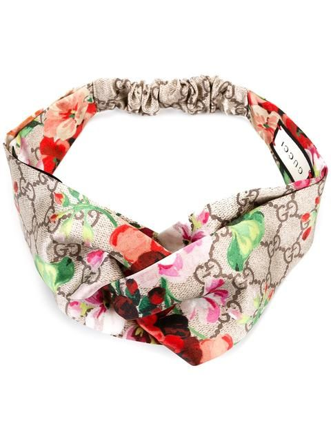 2e550b9d5d2 Gucci Blooms Print Silk Headband in 2019