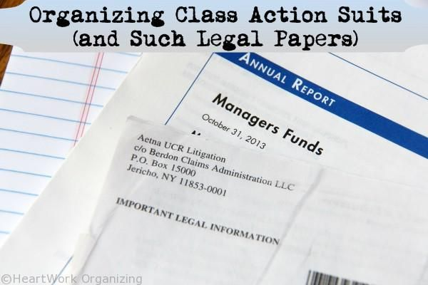 Organizing Class Action Suits (And Such Legal Papers) | HeartWorkOrg.com