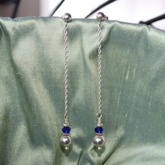 Dainty Droplet Silver Ball Earrings. on Etsy, $18.00 CAD