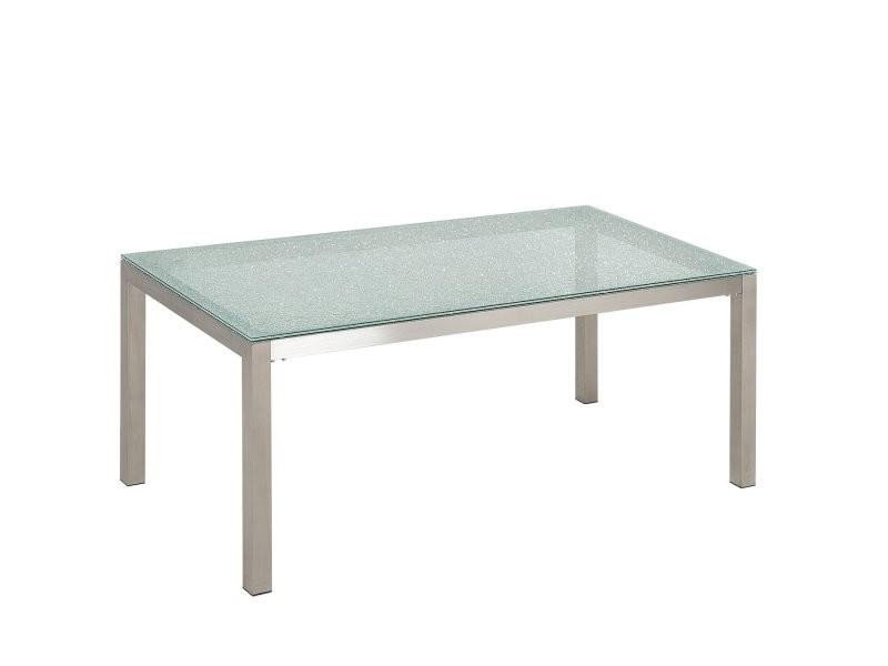 Beliani 134220 Vente De Beliani Conforama En 2020 Table En Verre Fauteuil Bleu Table En Acier
