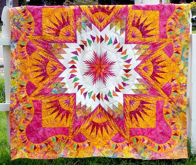 Glacier Star, Quiltworx.com, Made by Tammy at CS Quilt Foundry