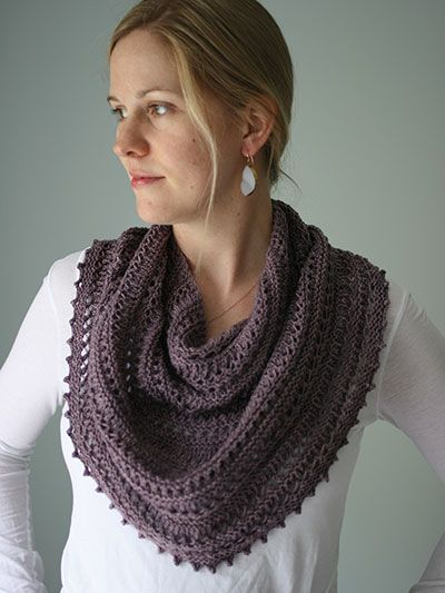 Knitting Pattern Appia Cowl - #ad Lace cowl knit with Roman Stripe ...