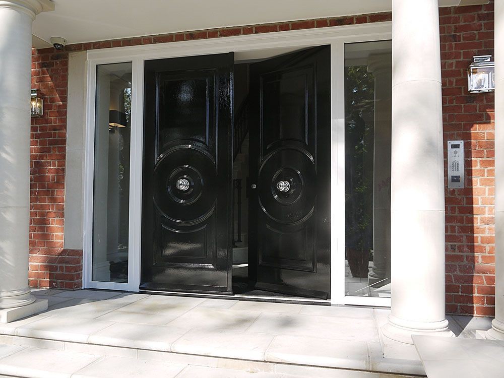 Image Result For Colonial Double Entry Doors Black Entrance