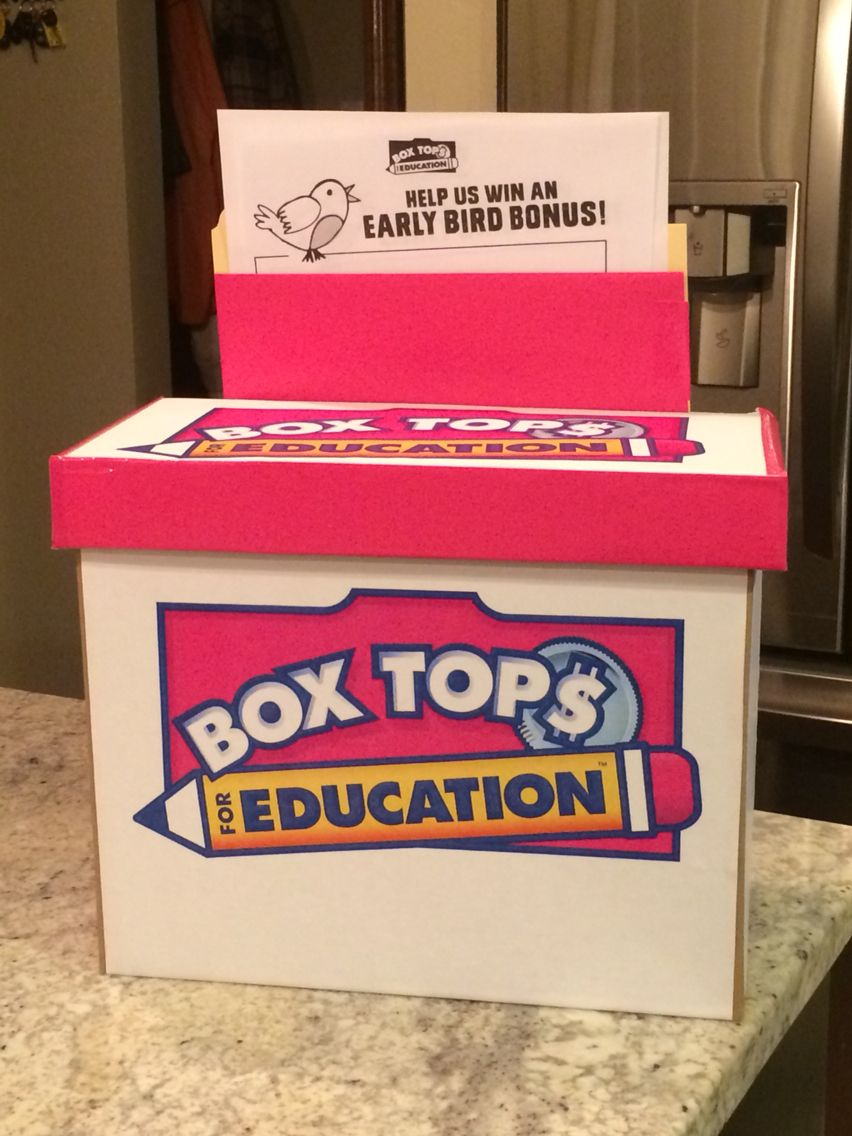 collection bin box tops for education pinterest box tops pta and box. Black Bedroom Furniture Sets. Home Design Ideas