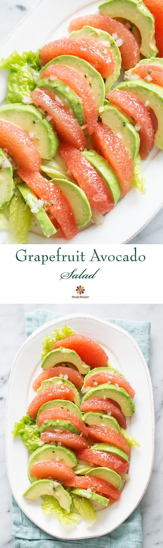 Grapefruit Avocado Salad ~ Grapefruit avocado salad. Peeled segments of…