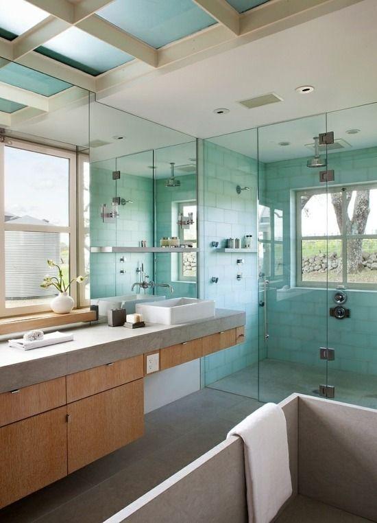 Wohnideen Badezimmer Himmelblau Farbe | Bad | Pinterest