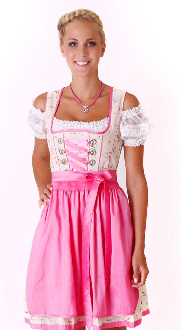 Mini Dirndl champagner pink - Ella   Dirndl, Dirndl ...