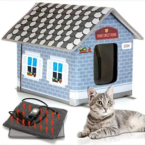 Petyella Heated Cat Houses For Outdoor Cats In Winter Heated Outdoor Cat Best Petsep Com Cat House Heated Cat House Heated Outdoor Cat House