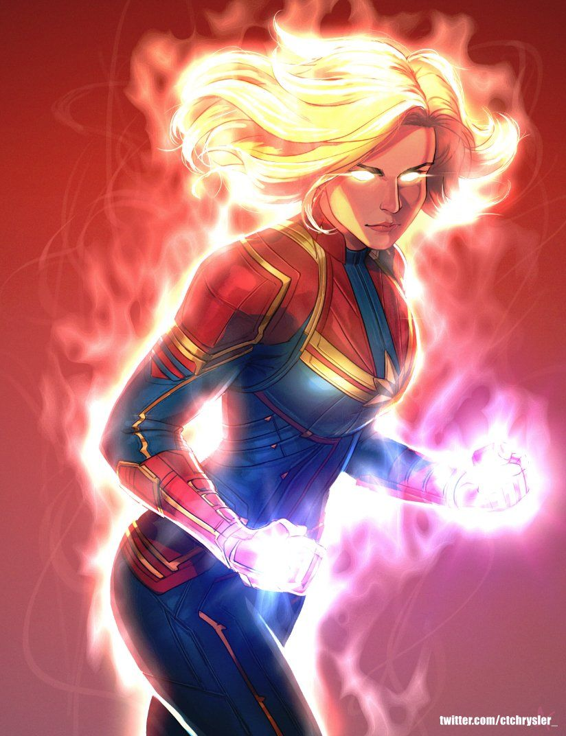 Captain Marvel by @ctchrysler_ on Twitter