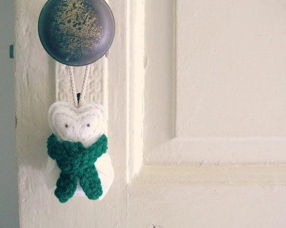 Snow Owl White Christmas Ornament Decor Felt by OrdinaryMommy, $28.00