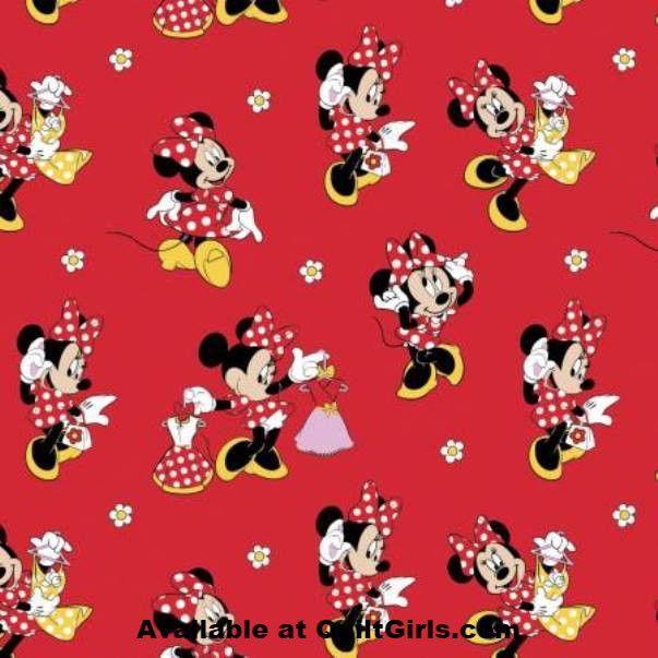 Minnie Loves Dresses Fabric to sew