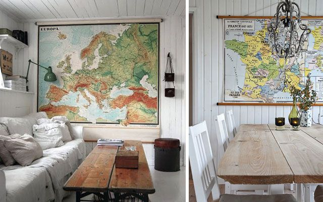 Decofilia Blog | Ideas para decorar con mapas