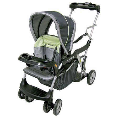 Baby Trend Sit N Stand Stroller With Parent Tray Galaxy Green