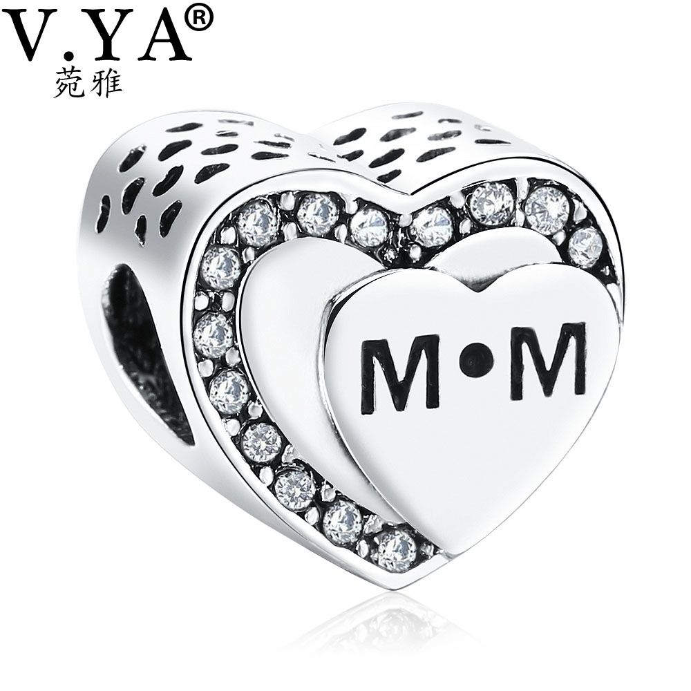 Vya mom beads charms fit for pandora bracelet necklace womenus diy