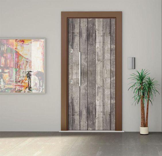 DIY 3D Wall Sticker Mural Chambre Décoration Affiche PVC Gris bois ...