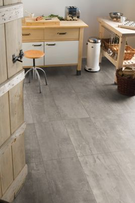 Wickes Concrete Tile Effect Laminate Flooring - 2.5m2 Pack ...