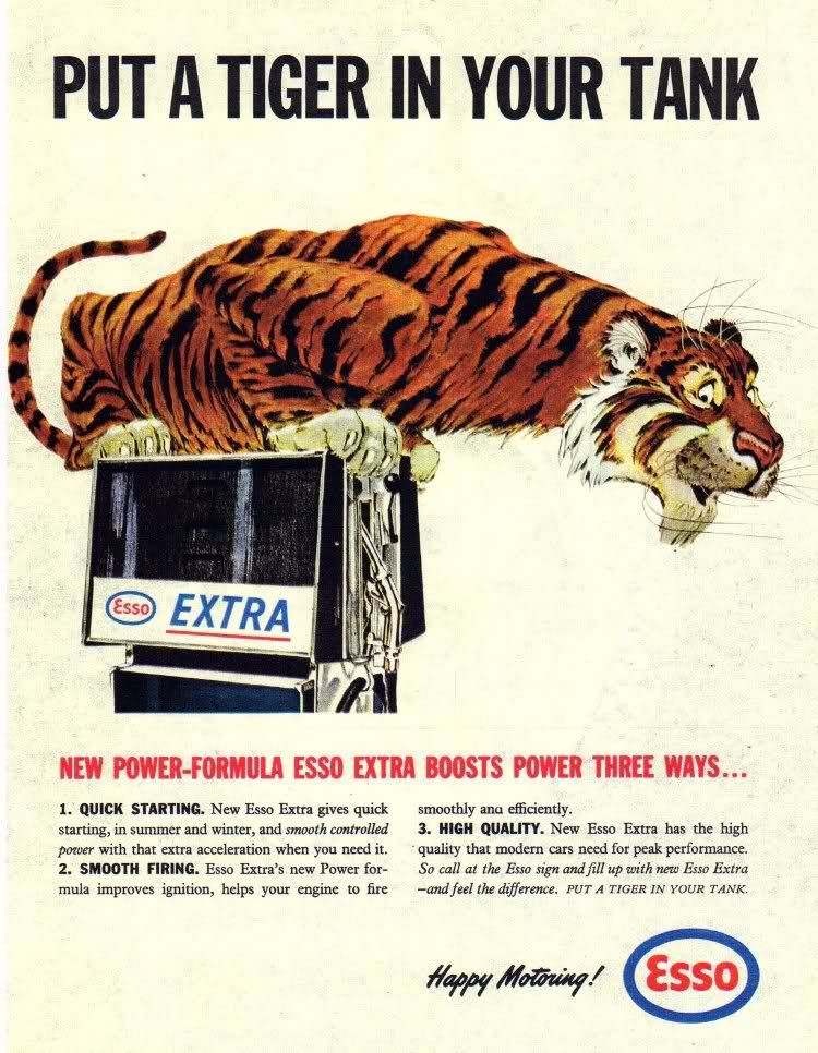 Image result for esso: put a tiger in your tank