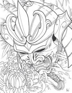 japanese samurai warrior mask drawings | karya seni fantasi, ide tato,  karya seni  pinterest