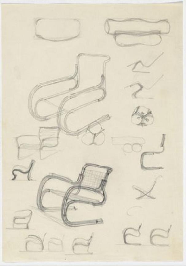 Elevation sketches (pencil on paper) 1926-46, Mies van der Rohe