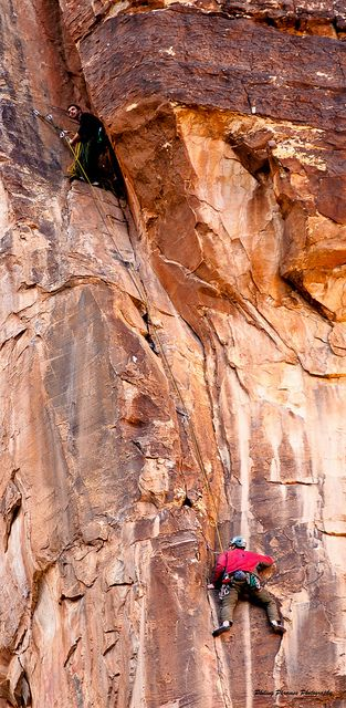 Work up the face - Red Rock Canyon, Nevada