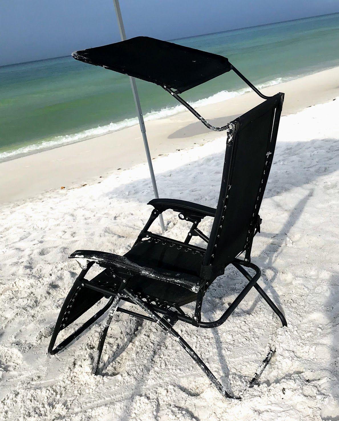 Zero Gravity Lounge Chair With Canopy Beach Lounge Chair Beach Lounge Cool Umbrellas