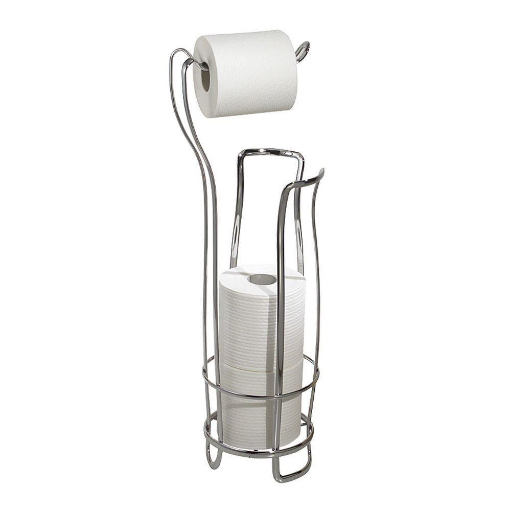 Interdesign Axis Freestanding Toilet Paper Holder Plus In Chrome