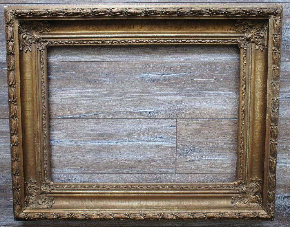 Details zu alter Neo-Barock- Bilder-Rahmen Falzmaß 20,8 x 40,9 cm (67)