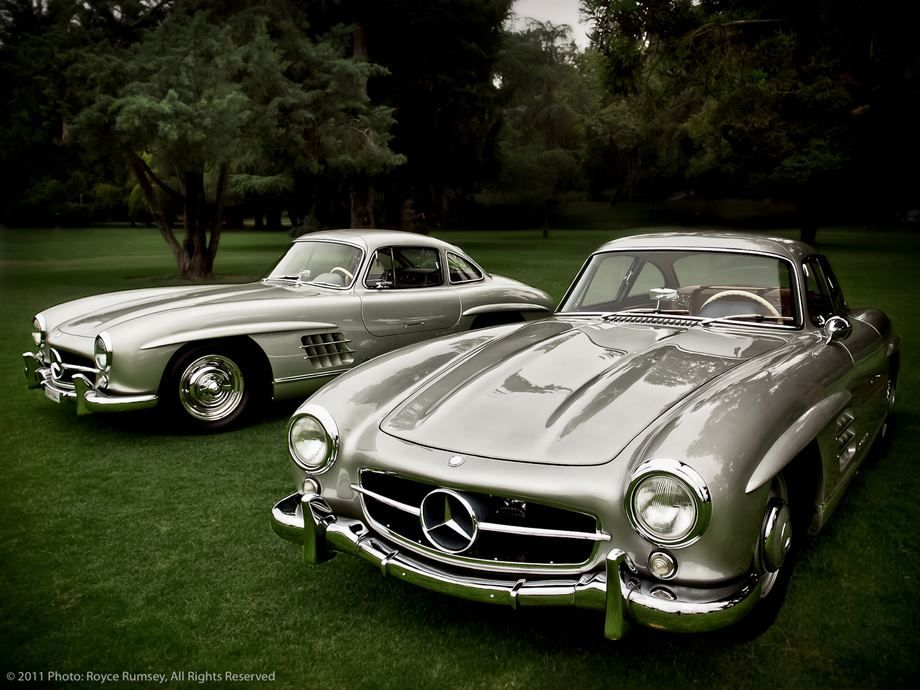 nice brace of mercedes benz 300 sl gullwing coupes at the 2011 san