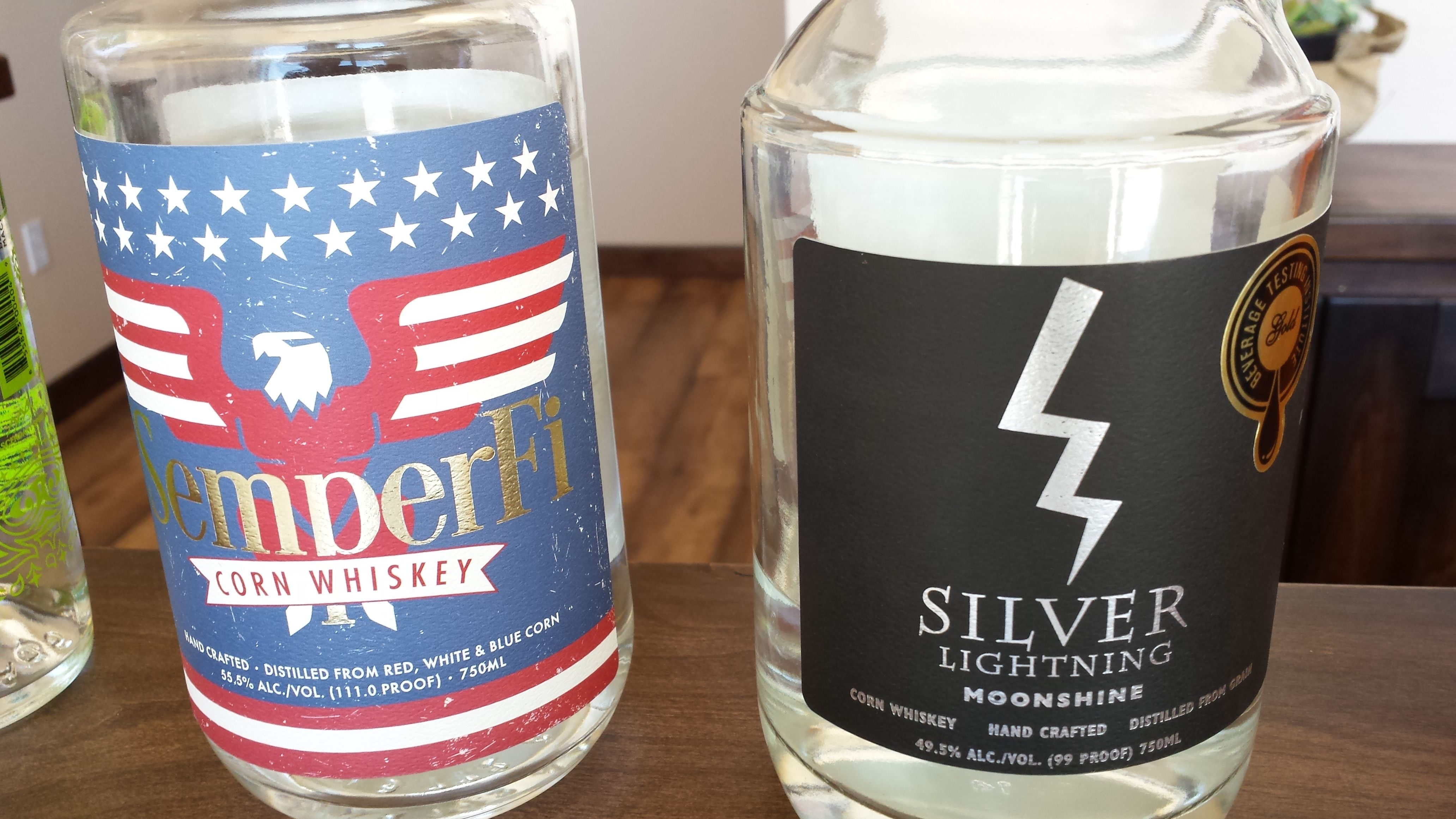 Ascendant Spirits Semper Fi and Silver Lightning Moonshine